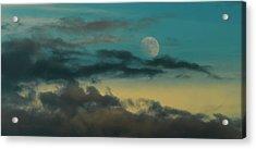 Moon Rise Sun Set Acrylic Print by Steven Poulton