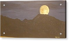 Acrylic Print featuring the painting Moon Rising by Betty-Anne McDonald