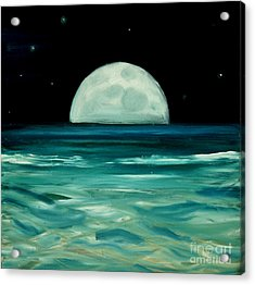 Moon Rising Acrylic Print by Caroline Peacock