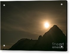 Acrylic Print featuring the photograph Moon Rising by John Wadleigh