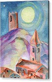 Moon Rising Acrylic Print by Molly Williams