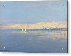 Moon Rising Over The Nile, 1900 Acrylic Print by William James