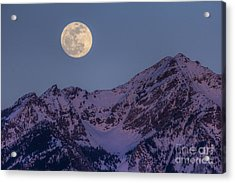 Moon Rising Over Twin Peaks Acrylic Print