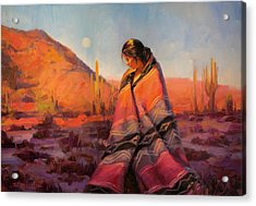 Acrylic Print featuring the painting Moon Rising by Steve Henderson