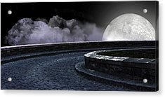 Moon Road 2 Acrylic Print by Evelyn Patrick
