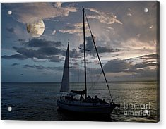 Moon Sail Acrylic Print by Digartz - Thom Williams