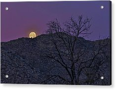 Moon Set At Sunrise Acrylic Print
