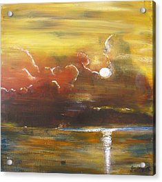 Acrylic Print featuring the painting Moon Shadows by Gary Smith