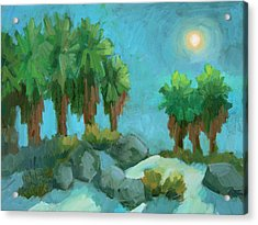 Acrylic Print featuring the painting Moon Shadows Indian Canyon by Diane McClary