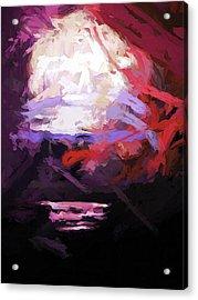 Moon Sky Pink Sea Acrylic Print