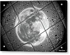 Moon Tile Reflection Acrylic Print by Stephen Younts