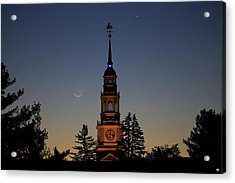 Moon, Venus, And Miller Tower Acrylic Print