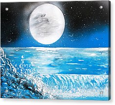Moon Wave Acrylic Print