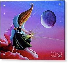 Moon Whisperer Acrylic Print by Cindy Thornton