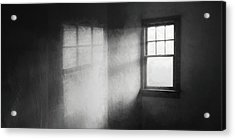 Moonbeams On The Attic Window Acrylic Print by Scott Norris