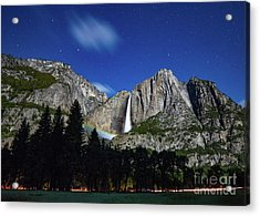 Moonbow And Louds  Acrylic Print