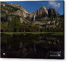 Moonbow Upper Falls Acrylic Print