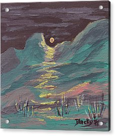 Moonglow On The High Desert Acrylic Print by Donna Blackhall