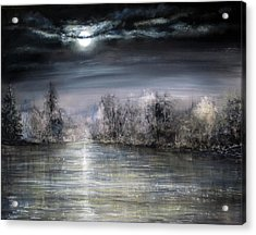 Moonlight Acrylic Print by Ann Marie Bone