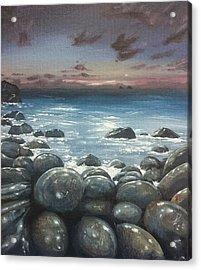 Moonlight At Cot Valley, Cornwall, U.k Acrylic Print