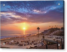 Moonlight Beach Sunset Acrylic Print