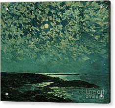 Moonlight Acrylic Print by Childe Hassam