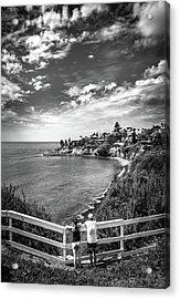 Acrylic Print featuring the photograph Moonlight Cove Overlook by T Brian Jones