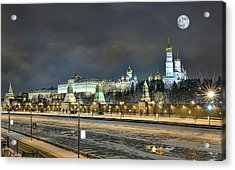 Moonlight Evening Acrylic Print by Gouzel -
