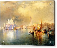 Moonlight In Venice Acrylic Print by Thomas Moran