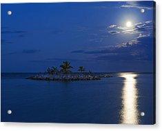 Moonlight Island Acrylic Print