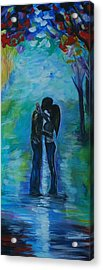 Acrylic Print featuring the painting Moonlight Kiss Series 1 by Leslie Allen
