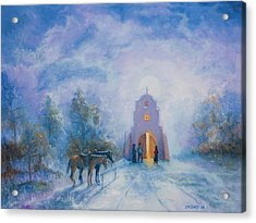 Moonlight Mass Acrylic Print by Jerry McElroy