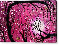 Acrylic Print featuring the mixed media Moonlight Melody by Natalie Briney