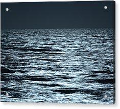 Moonlight On The Ocean Acrylic Print by Nancy Landry
