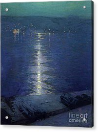 Moonlight On The River Acrylic Print