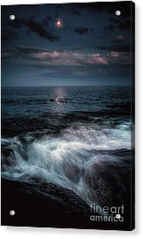 Moonlight On The Rocks Acrylic Print by Scott Thorp