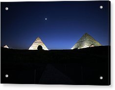 Moonlight Over 3 Pyramids Acrylic Print