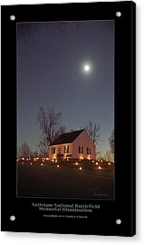 Moonlight Over Dunker Church 96 Acrylic Print by Judi Quelland