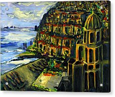 Moonlight Over Positano Acrylic Print