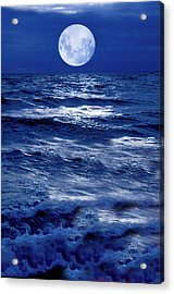 Moonlight Over The Ocean Acrylic Print
