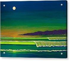 Moonlight Over Venice Beach Acrylic Print
