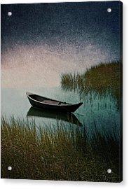 Moonlight Paddle Acrylic Print by Brooke T Ryan