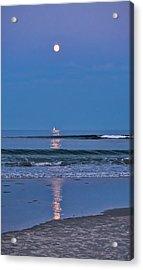 Moonlight Sail 3 - Ogunquit Beach - Maine Acrylic Print