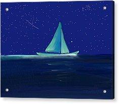 Moonlight Sail Acrylic Print