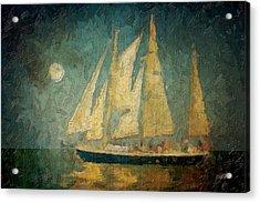 Moonlight Sail Acrylic Print by Michael Petrizzo