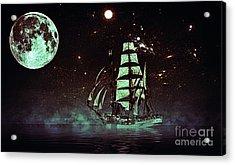 Moonlight Sailing Acrylic Print