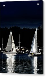 Acrylic Print featuring the photograph Moonlight Sailing by David Patterson