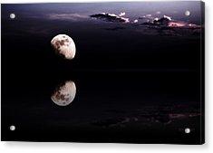 Moonlight Shadow Acrylic Print by Steve K