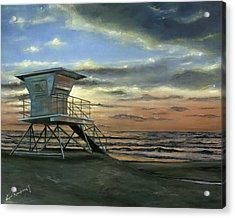 Moonlight Sunset Acrylic Print by Lisa Reinhardt