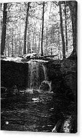 Moonlight Waterfall Acrylic Print